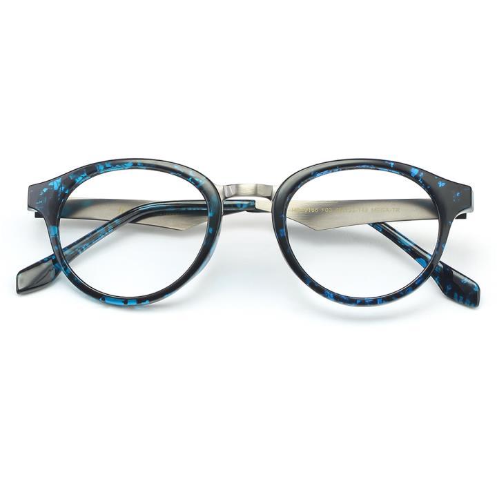 HAN MEGA-TR钛塑光学眼镜架-玳瑁蓝(HD49166-C3)