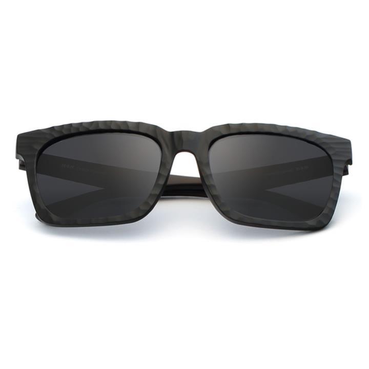 HAN时尚偏光太阳镜HD59306-S01 黑框黑灰片