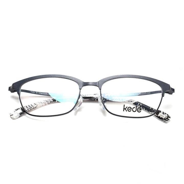 Kede时尚光学眼镜架Ke1414-F01  亮黑
