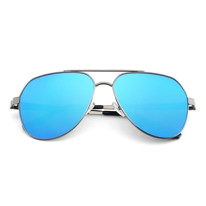 HAN SUNGLASSES合金防UV太阳眼镜-枪框蓝色片(HN52020L C1)