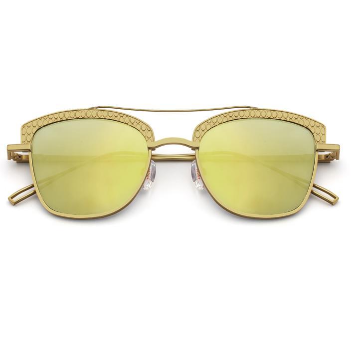 HAN RAZR-X9白铜不锈钢太阳眼镜-金框金片(HD59124 S18)