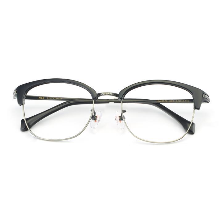 HAN 合金PC光学眼镜架-低调黑枪(HN49379-C01)
