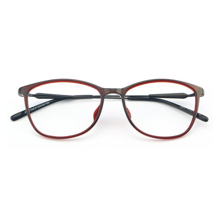HAN MEGA-TR钛塑光学眼镜架-绚丽酒红(3332-C4)