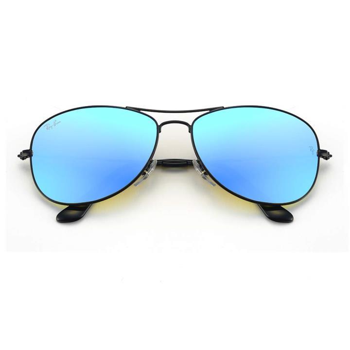 RAY BAN雷朋金属太阳眼镜-黑框蓝色片(ORB3362 002/4O59)