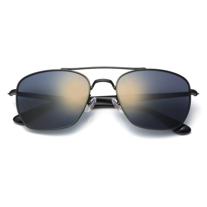 HAN不锈钢防紫外线太阳镜-黑框黑灰片(HD5904-S01)