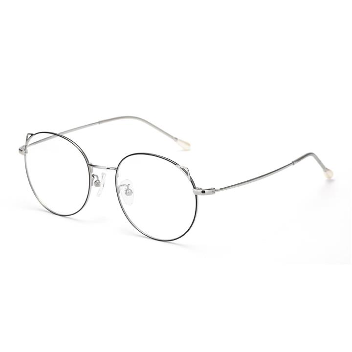 HAN时尚光学眼镜架HN41100  C1 黑/银