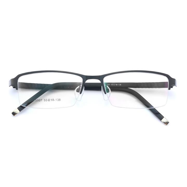 HAN金属时尚光学眼镜架-黑色(5507-F01)