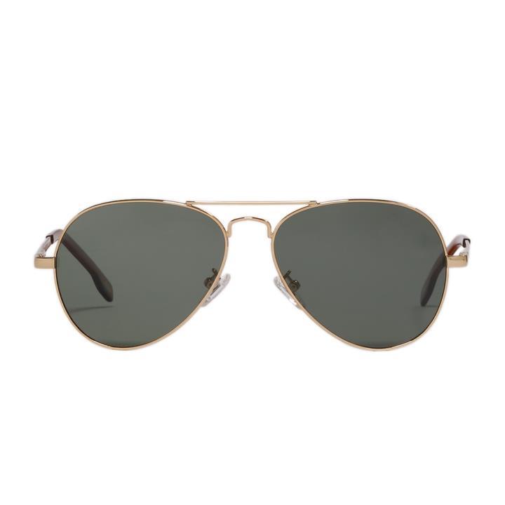 HAN飞行员款金属偏光太阳镜-金框墨绿片(HD2924-S22)