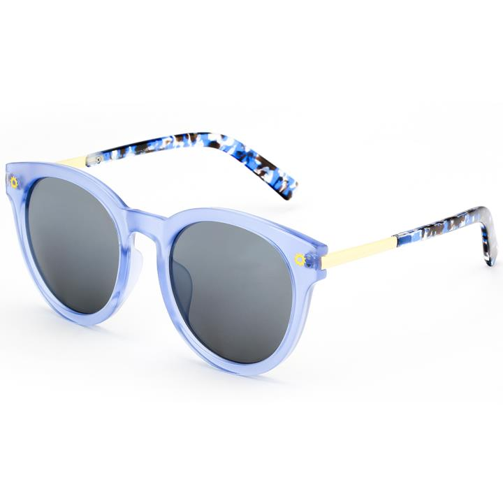 HAN SUNGLASSES防UV太阳眼镜HN55053 C1/M 蓝框黑灰片