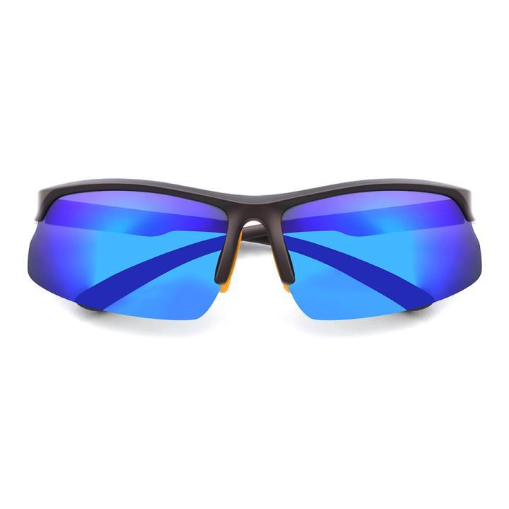 HAN TR偏光太阳镜-棕框炫彩蓝色片(HN59413-C3)