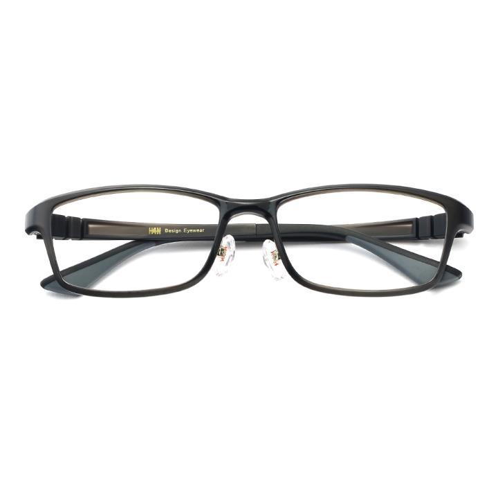 HAN 塑钢时尚光学眼镜架-气质深灰(HN49403-C1)