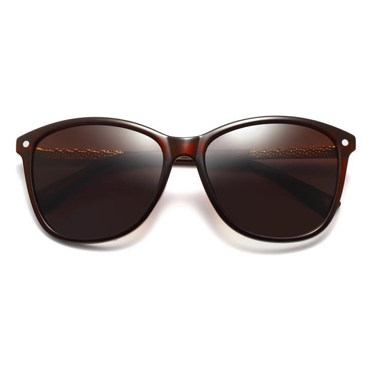 HAN时尚偏光太阳镜HDX5802-S06 酒红框茶色片