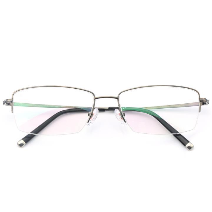 HAN纯钛光学眼镜架-枪灰(J81888-C3)