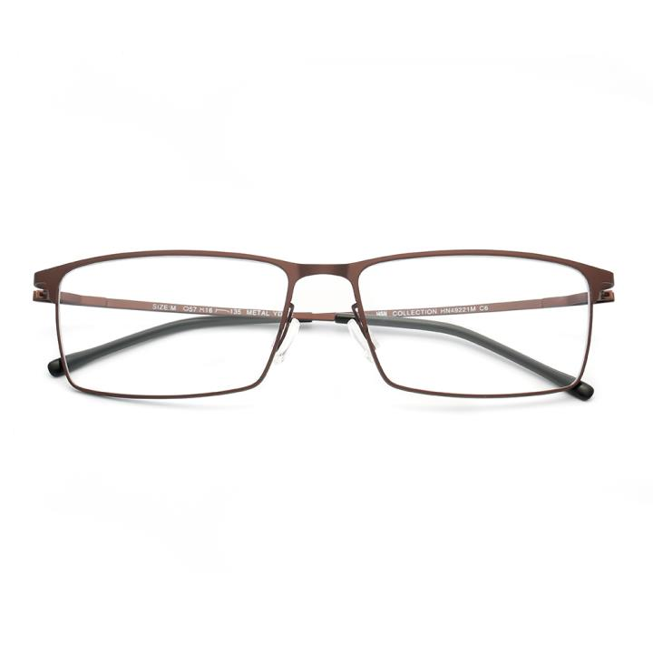 HAN COLLECTION光学眼镜架HN49221M C6 棕色