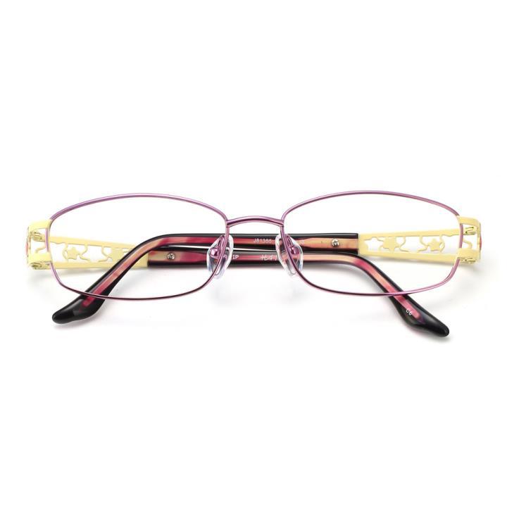 HAN纯钛时尚光学眼镜架-新贵紫(J81355-C6)