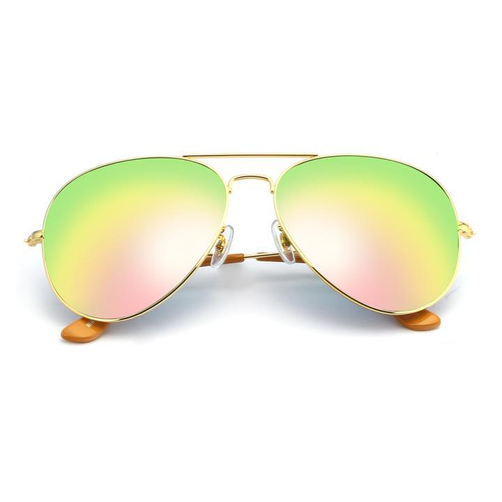 HAN RAZR-X9不锈钢防UV太阳眼镜-金框粉色片(HN52016L-C5)