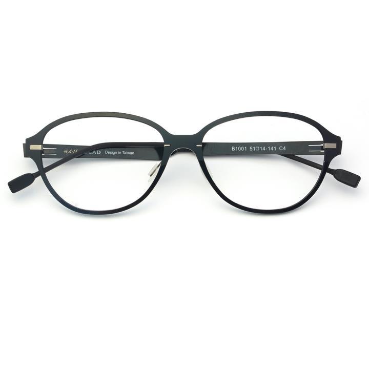 HAN尼龙不锈钢光学眼镜架-经典纯黑(B1001-C4)