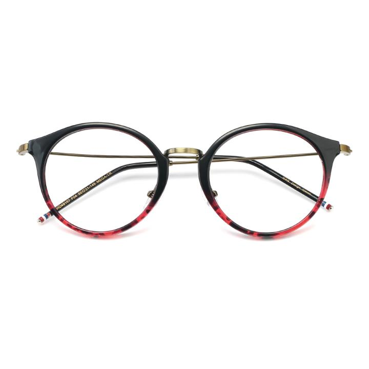 HAN MEGA-TR钛塑光学眼镜架-黑渐进红(HD49167-C4)