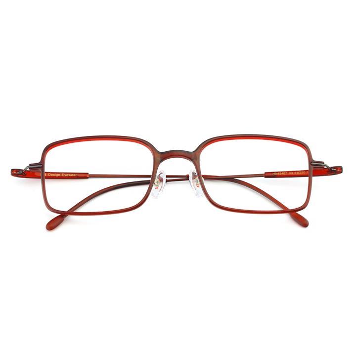 HAN TR金属光学眼镜架-神秘酒红(HN49407-C3)