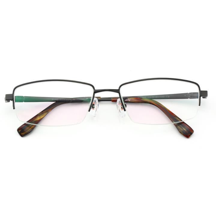 HAN纯钛光学眼镜架J81368-C4哑黑色