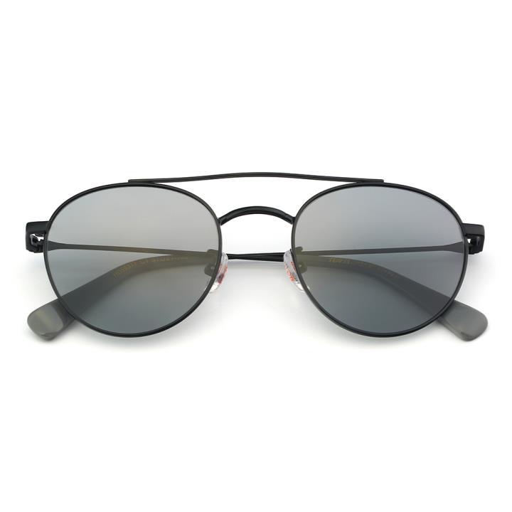 HAN不锈钢偏光太阳镜-黑框黑灰片(HD59317-C1)