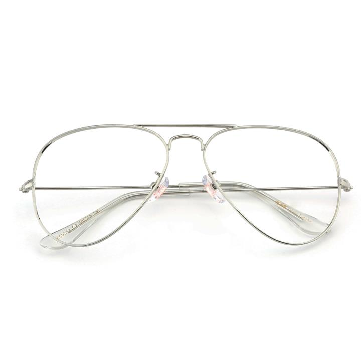 HAN不锈钢太阳眼镜架-银框(JK59312-C2)