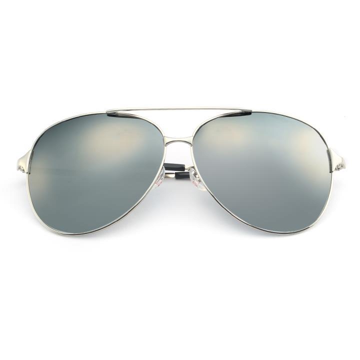HAN不锈钢偏光太阳镜-银框银色片(HD5814-S09)