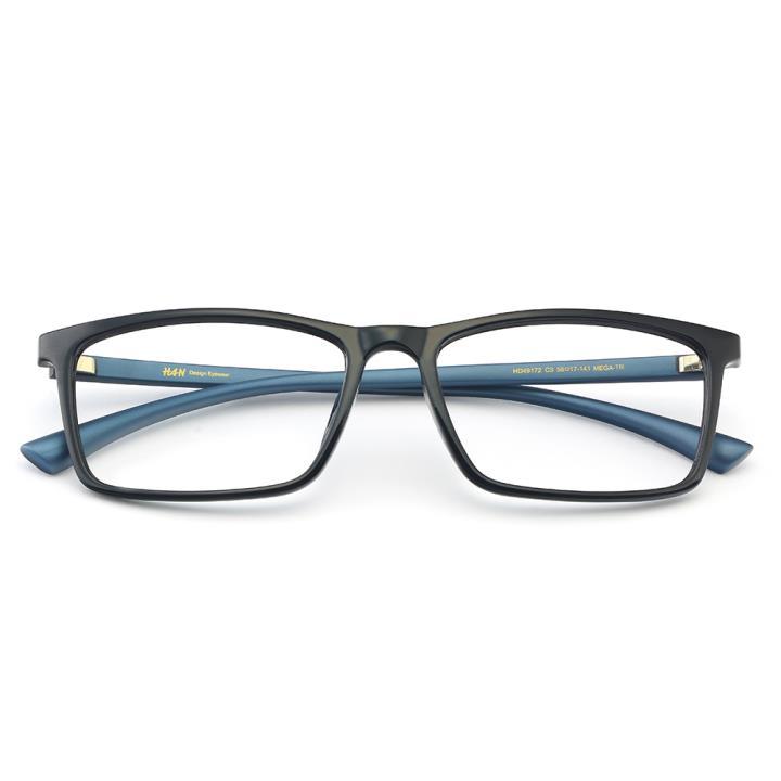 HAN MEGA-TR钛塑光学镜架-黑蓝色(HD49172-C3)