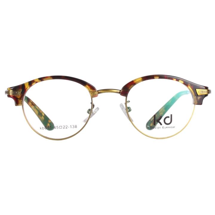 KD设计师手制复古板材金属眼镜kb011-C5
