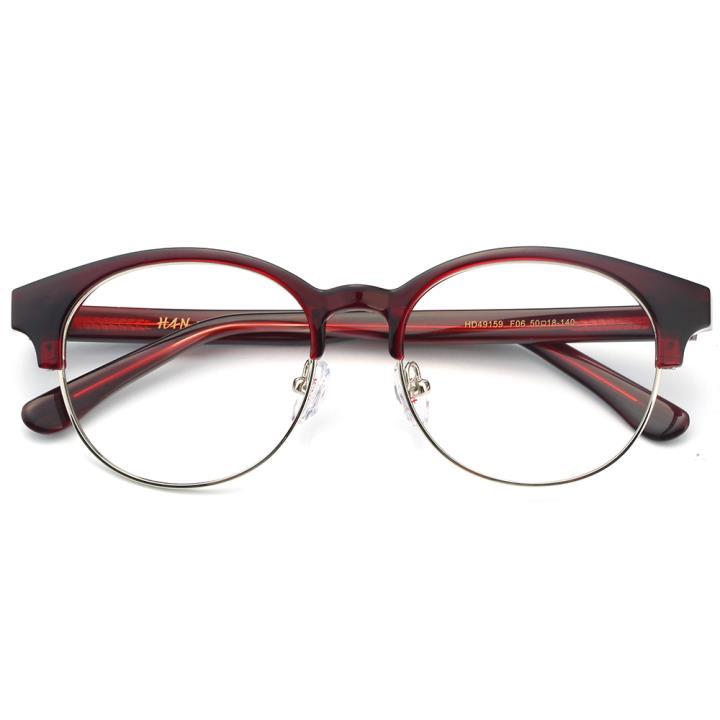 HAN板材金属光学眼镜架-靓丽酒红(HD49159-F06)