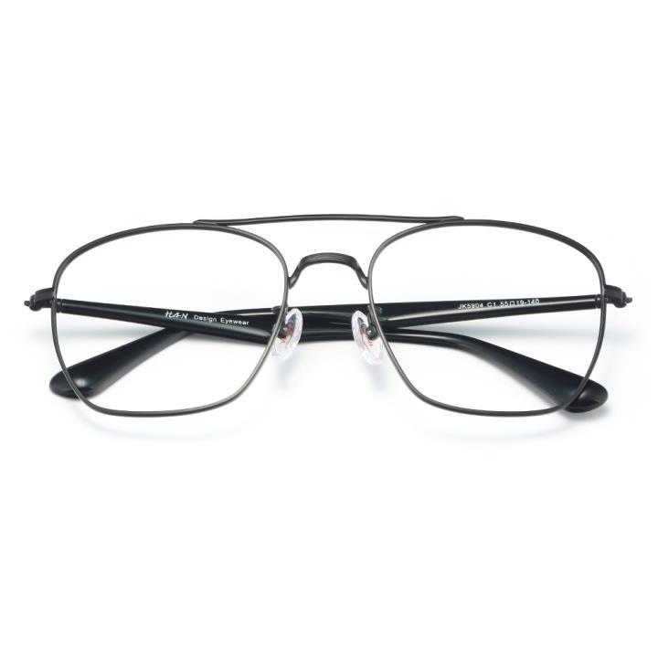 HAN不锈钢光学眼镜架-哑黑近视框(JK5904-C4)