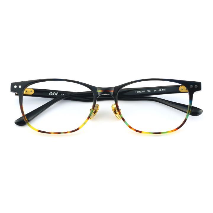 HAN板材光学眼镜架-炫彩玳瑁(HD49301-F03)