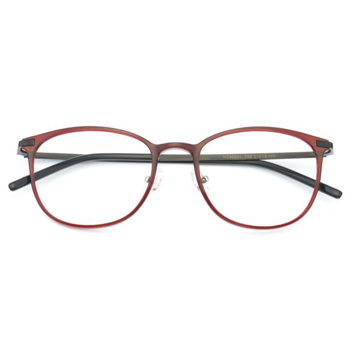 HAN MEGA-TR钛塑不锈钢光学眼镜架-优雅红色(HD49201-F06)