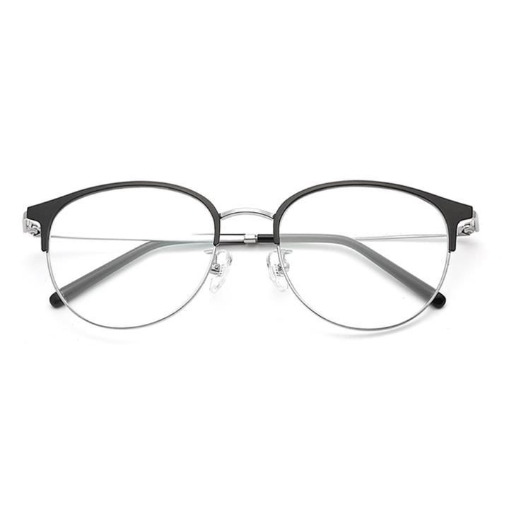 HAN TITANIUM纯钛光学眼镜架HN42094L C3 黑银