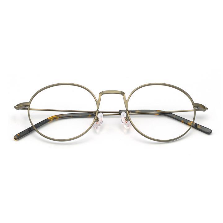HAN不锈钢光学眼镜架-哑金色(HD49213-F18)