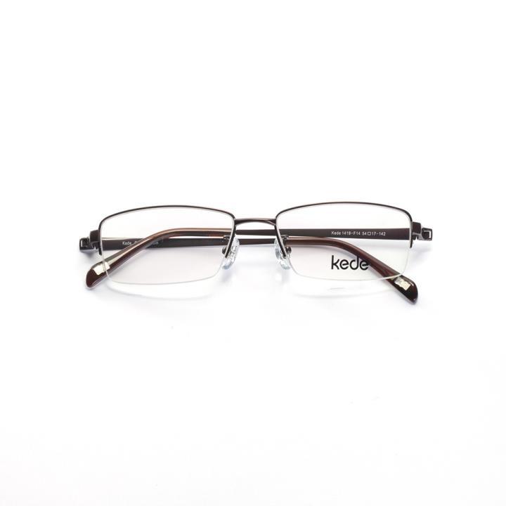 Kede时尚光学眼镜架Ke1419-F14  铜色