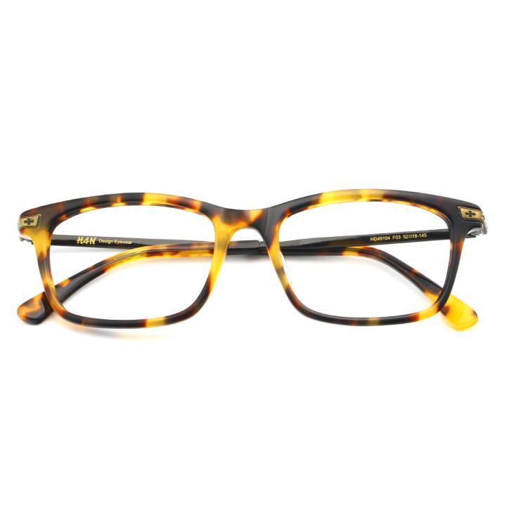 HAN时尚光学眼镜架HD49104-F03复古玳瑁