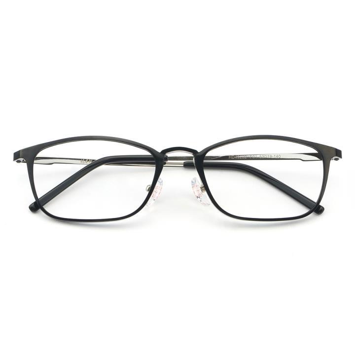 HAN MEGA-TR钛塑不锈钢光学眼镜架-经典亮黑(HD49202-F01)