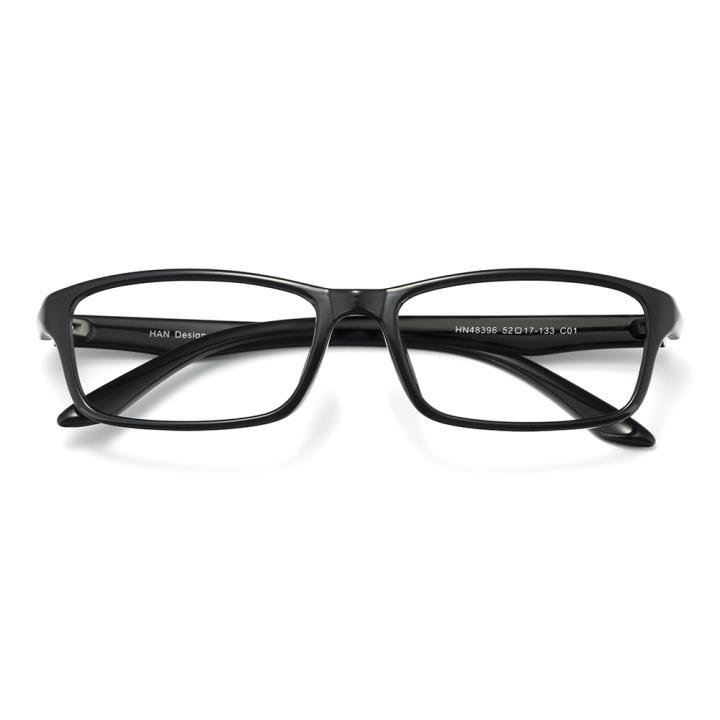 HAN MEGA-TR钛塑光学眼镜架-亮黑(HN48396-C01)