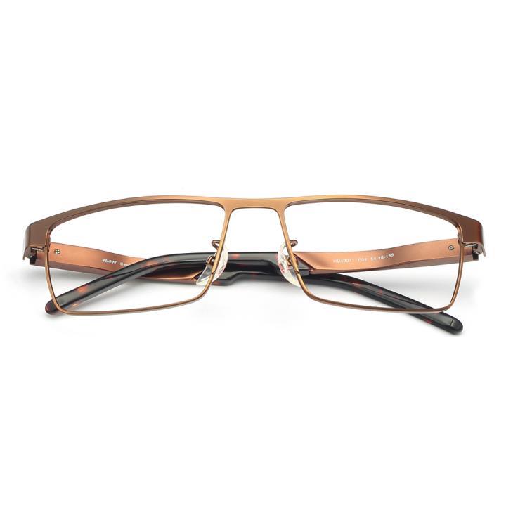 HAN铝镁合金光学眼镜架-咖色(HD49311-F04)