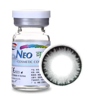 NEO可视眸自然目彩色隐形眼镜年抛一片装S3-1自然目黑
