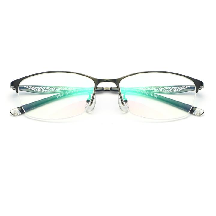HAN纯钛光学眼镜架-经典亮黑(B8010-C1)