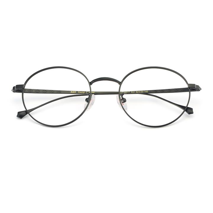 HAN纯钛光学眼镜架-黑色(HD49317-F01)
