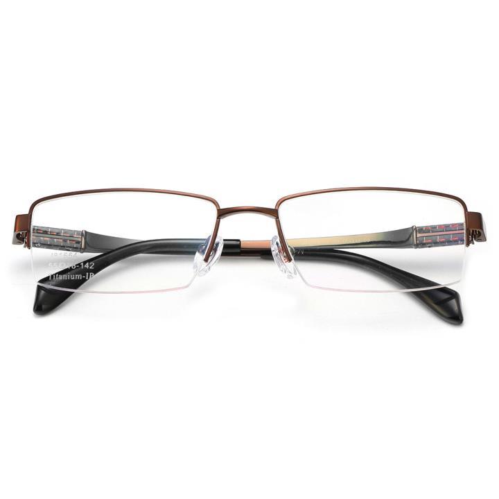 HAN纯钛光学眼镜架J81554-C9深棕色