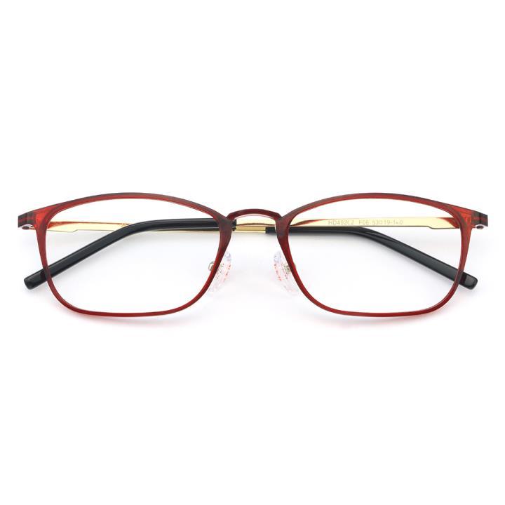 HAN MEGA-TR钛塑不锈钢光学眼镜架-优雅红色(HD49202-F06)