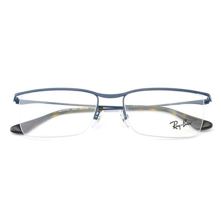 RAY BAN雷朋金属眼镜架-蓝色(0RX6370D 2887 55)