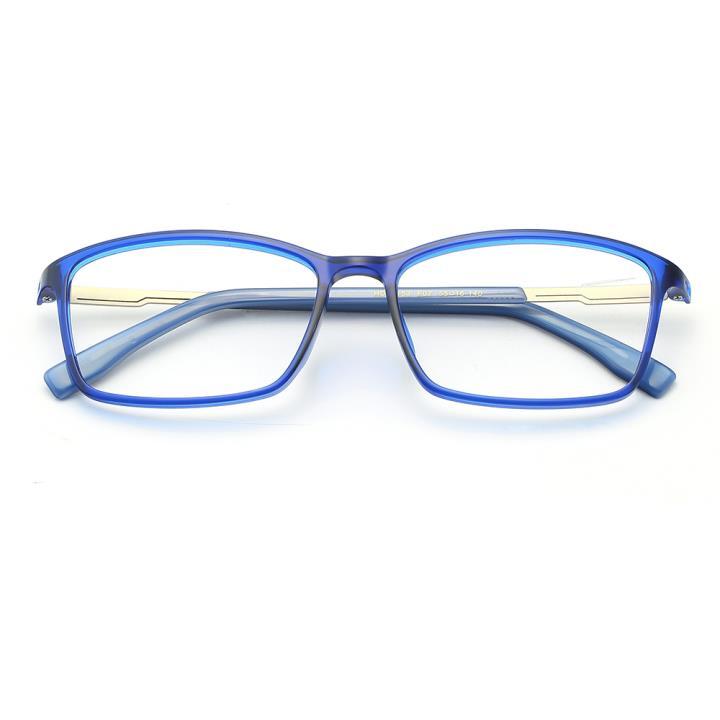 HAN TR板材光学眼镜架-时尚亮蓝(HD49153-F07)