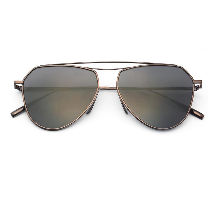 HAN RAZR-X9 白铜不锈钢炫彩太阳眼镜-枪框黑片(HD59125 S12)