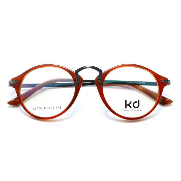 KD设计师手制复古板材金属眼镜kb010-C06