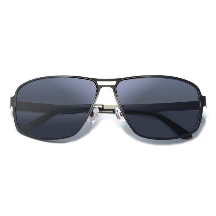 HAN不锈钢板材防紫外线太阳镜-黑框黑灰片(HD5903-S01)